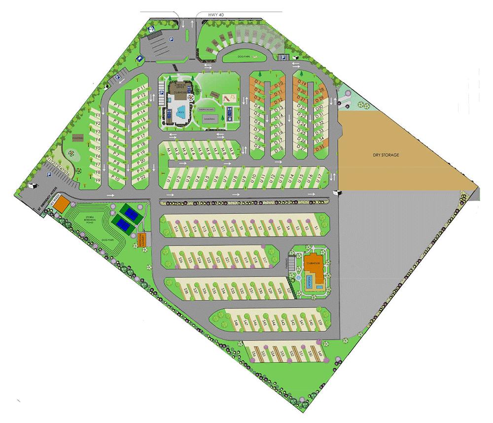 Resort Map Mountain Valley Rv Resort